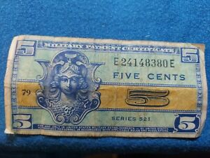 U.S. MPC Military Payment cert. 5 Cents Series 521