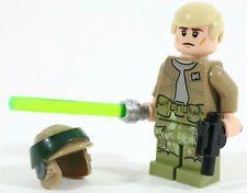 LEGO STAR WARS ENDOR REBEL JEDI LUKE MINIFIGURE - MADE OF GENUINE LEGO PARTS