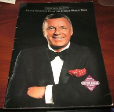Frank Sinatra's Diamond Jubilee World Tour Souvenir Book by Chivas Regal 1990