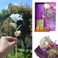 Galaxy Rose Flower Valentine's Day Lovers Gift Romantic Crystal Rose With Box US