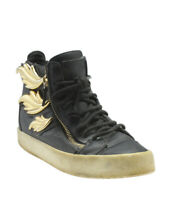 Giuseppe Zanotti May London Black Leather High-top Sneakers, Size 39