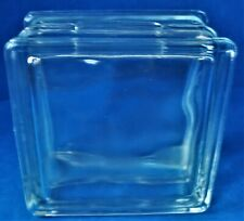 Vintage Glass Unmarked Glass Building Block Bank