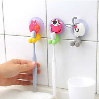 Cute Animal Silicone Toothbrush Holder Bathroom Wall Hanger Suction Convenient H