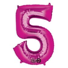 """Ballon Nummer Zahl """"5"""" in Pink, heliumgeeignet, Geburtstag o. Überraschung"""