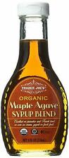 Trader Joe's Organic Maple Agave Syrup blend 8 oz glass bottle * 2 X bottles *
