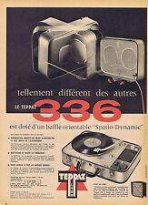 PUBLICITE ADVERTISING 114 1958 Le TEPPAZ 336 électrophone