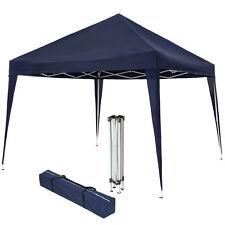Gazebo pieghevole da giardino tendone fisarmonica tenda per festa eventi 3x3 blu