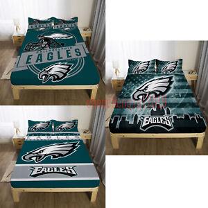 Philadelphia Eagles Fitted Sheet 3PCS Bed Sheets & Pillowcase Bedding Sets