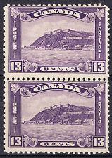 Canada 13c Quebec Citadel Pair, Scott 201, F-VF MNH, catalogue - $175 !!!