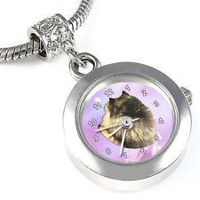 Keeshond Dog Silver Bracelet European Bead Watch EBA101