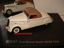 RENAULT VIVA GRAND SPORT ACX2 CREME 1936 au 1/43°
