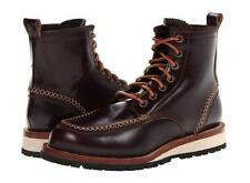 $995 DSquared Brown Leather Hiking Boots size 10 New Box Wood Tan Black Shoes D2