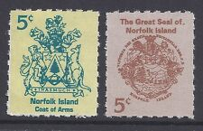 1997 NORFOLK ISLAND LOCAL POST BOOKLET STAMPS 2x 5c MINT
