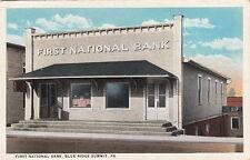 Postcard First National Bank Blue Ridge Summit PA