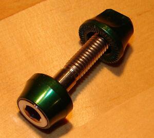 Tune Saddle Clamp Seat Clamp Titanium AC 9 19 Retro NOS Quick Release