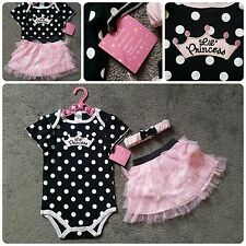 Baby girl Lil' princess 3pc tutu outfit birthday set 12 months 1 year