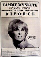 TAMMY WYNETTE 1968 original POSTER ADVERT DIVORCE epic records