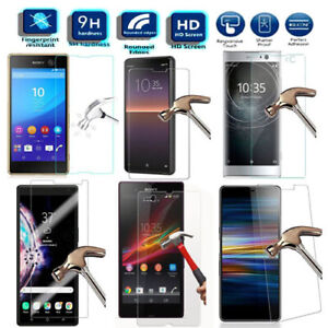 Tempered Glass Screen Protector For Sony Xperia 1 10 X XA1 XA2 XZ1 XZ2 XZ4 Z5