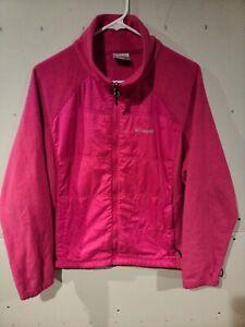 Columbia Interchange Plus Size Pink Jacket Fleece 2X Long Sleeve Womens Zip Up