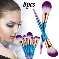 8PCS Make Up Brushes Set Kabuki Makeup Foundation Blusher Face Powder Brush Tool