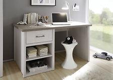 Schreibtisch Luca,  Computertisch, Bürotisch, Pinie Weiß, Landhaus