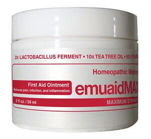 Emuaid Max Ointment for Psoriasis Dermatitis Eczema Rosacea Acne Bedsores 2oz