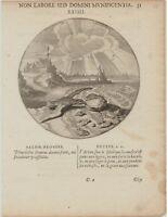 AUSTERN Muscheln Original Emblem Kupferstich um 1650 Meeresbiologie Seestern