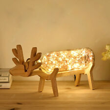 Simple Fashion Creative Elk Personality Wood Table Lamps Desk Lamp