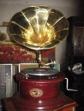 sehr schönes rundes Grammophone aus England/sehr gepflegt und funktionstüchtig