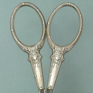 Antique Silver Embroidery Scissors w/ French Hallmarks * Circa 1900s