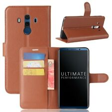Cover Wallet Premium Brown For Huawei Mate 10 Pro Pouch Case Protector
