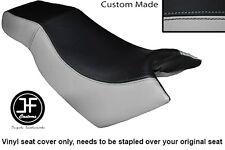 BLACK LIGHT GREY VINYL CUSTOM FOR KYMCO CK PULSAR 125 OLD SHAPE DUAL SEAT COVER