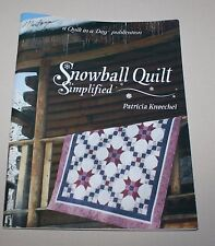 Snowball Quilt Simplified Patricia Knoechel Pattern Booklet 1993