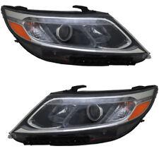Headlights Headlight Assembly NEW Pair Set for 2014-2015 14-15 Kia Sorento EX/SX