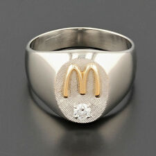 McDonald's 10k Golden Arches Ring with .13ct Diamond