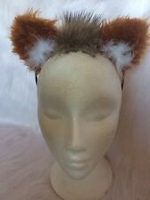 Chestnut Tan Lion Ears With Mini Mane One Size Fancy Dress Ears Childs & Adults
