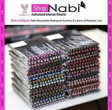 36dz (432pcs) Nabi Retractable Waterproof Eyeliner & Lipliner (Wholesale Lot)