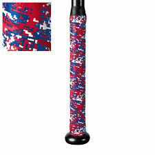 "New! Champro Sports A031 Xtreme Tack Bat Grip 1.8mm x 39"" Red,White,& Blue Camo"