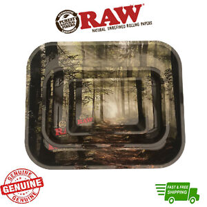 RAW Rolling Tray Smokey Forest Limited Edition Metal Tray with Certificate
