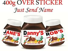personalised Nutella jar label over sticker400g gift  x2 yes 2