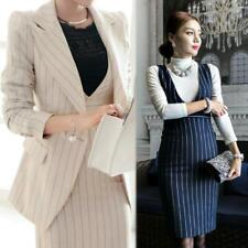 Women Work Suit Hip Dress Business Slim Blazer Long Sleeve Jacket Two-piece Suit