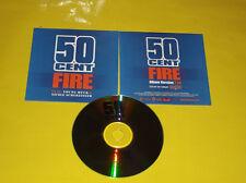 """CD PROMO MONOTITRE 50 CENT FEAT YOUNG BUCK&NICOLE SCHERZINGER  """"FIRE"""""""