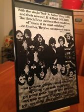 """Big 11X17 Framed Beach Boys """"Holland"""" & """"Sail On Sailor"""" Lp Album Cd 45 Promo Ad"""