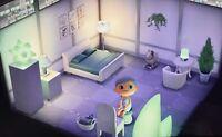 Animal Crossing New Horizons 🤍 wunderschönes Schlafzimmer in weiß grün 🤍