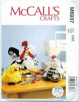 McCalls Crafts 6937 Rooster Hen Chick Sewing Organizers Pins Pattern UNCUT FF
