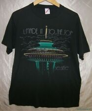 Vintage JERZEES Black SEATTLE SPACE NEEDLE I MADE IT TO THE TOP 50/50 T-Shirt L