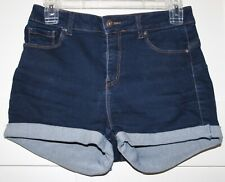Women's Dark Blue Denim Shorts Size Medium