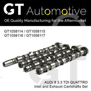 AUDI 4 PIECE CAMSHAFT SET FOR A8 AKF 3.3 TDI QUATTRO ENGINES