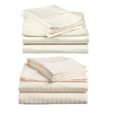 1000TC Egyptian Cotton King Size Bed Sheet Set. Plain or Stripe. 4 Pieces - New
