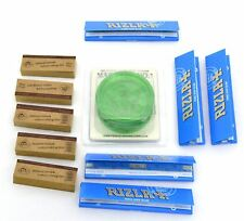 Set of 5x Rizla Blue Slim Rolling Paper with Grinder & Free Tips